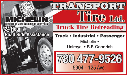 Transport Tire Ltd (780-477-9526) - Display Ad