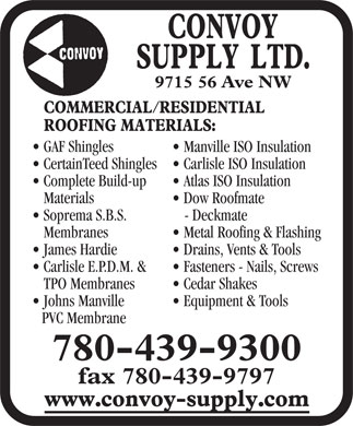 Convoy Supply Alberta Ltd (780-439-9300) - Display Ad
