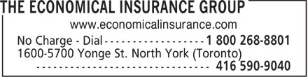 The Economical Insurance Group (416-590-9040) - Annonce illustrée - www.economicalinsurance.com