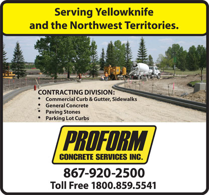 Proform Concrete Services Ltd (867-920-2500) - Display Ad