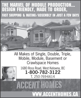 Accent Homes (250-769-6614) - Display Ad