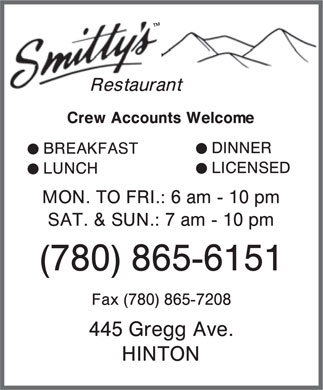 Smitty's (780-865-6151) - Display Ad