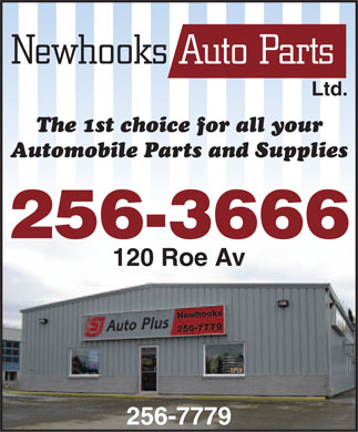 Newhooks Auto Parts (1977) Ltd (709-256-7779) - Display Ad - Ltd. 256-3666 120 Roe Av 256-7779