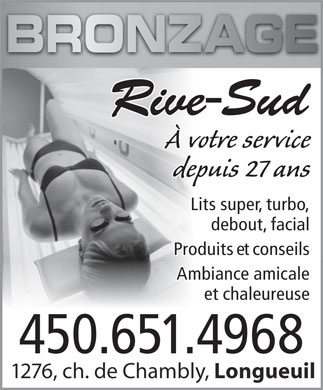 Bronzage Rivesud (450-651-4968) - Display Ad