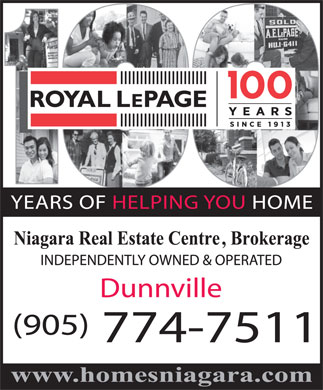 Royal LePage Niagara Real Estate Centre (905-774-7511) - Annonce illustrée