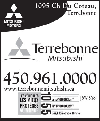 Terrebonne Mitsubishi (450-961-0000) - Display Ad