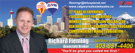 Remax Mountainview - Richard Fleming (403-727-0220) - Display Ad - 403-651-4400