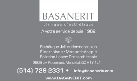 BASANERIT (514-729-2331) - Annonce illustr&eacute;e