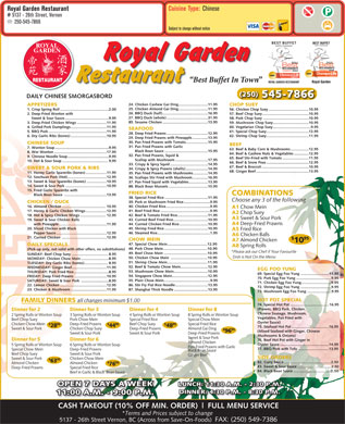 Royal Garden (250-545-7866) - Menu