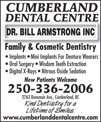 Cumberland Dental Centre (250-336-2006) - Annonce illustr&eacute;e
