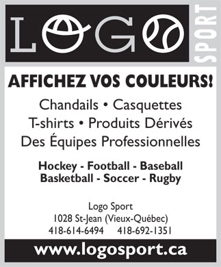 Logo Sport (418-692-1351) - Display Ad