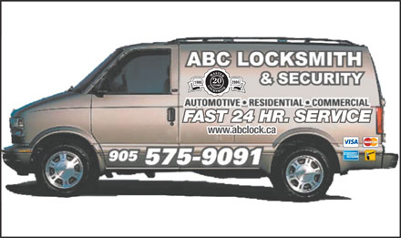 ABC Locksmith & Security (905-575-9091) - Annonce illustrée - 2006 1986 FAST 24 HR. SERVICE www.abclock.ca