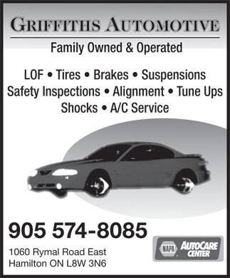 Griffiths Automotive (905-574-8085) - Display Ad