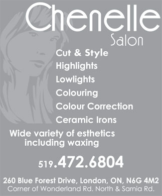 Chenelle Salon (519-472-6804) - Annonce illustr&eacute;e