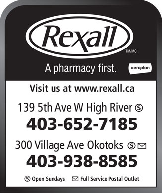 Rexall (403-938-8585) - Display Ad