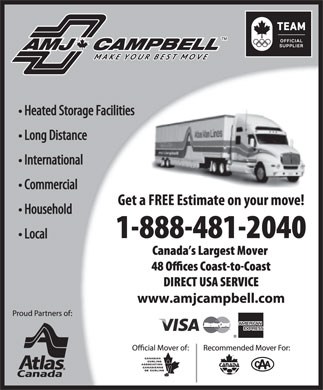 AMJ Campbell Van Lines - Display Ad