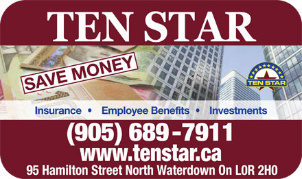 Ten Star Financial Services (905-689-7911) - Annonce illustr&eacute;e