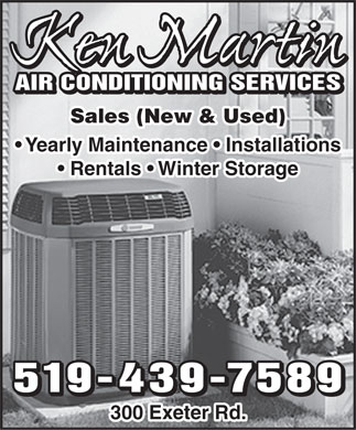 Ken Martin Air Conditioning Services (519-439-7589) - Annonce illustrée