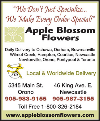 Apple Blossom Flowers (289-276-0064) - Display Ad
