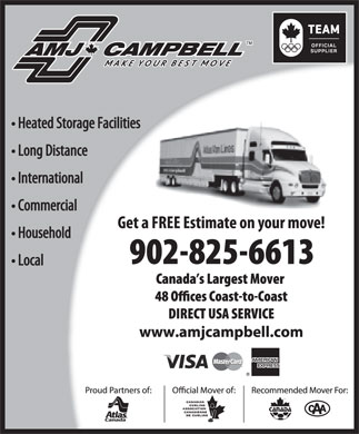 AMJ Campbell Van Lines (902-825-6613) - Display Ad