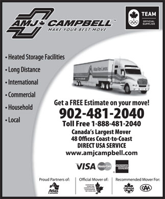 AMJ Campbell Van Lines (902-481-2040) - Display Ad