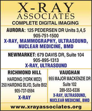 X-Ray Associates (289-553-6336) - Display Ad
