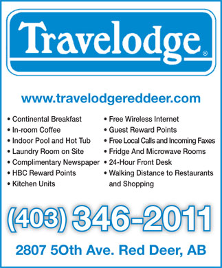 Travelodge (403-346-2011) - Annonce illustrée