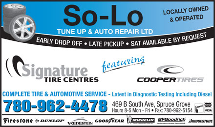 So-Lo Auto Repair (780-458-4144) - Annonce illustrée