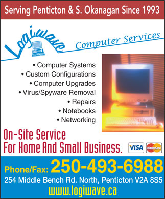 Logiwave Computers (250-493-6988) - Display Ad