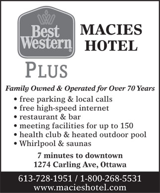 Best Western Plus Macies Hotel (613-728-1951) - Display Ad
