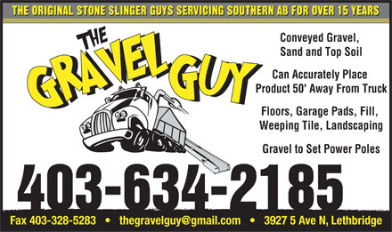 Gravel Guy The (403-634-2185) - Display Ad