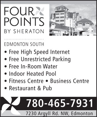 Four Points By Sheraton Edmonton South (780-465-7931) - Display Ad