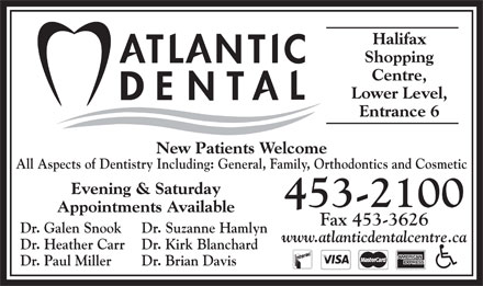 Atlantic Dental Centre (902-453-2100) - Display Ad