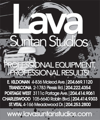 Lava Suntan Studios (204-669-1120) - Display Ad
