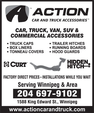 Action Car And Truck Accessories (204-697-9102) - Display Ad