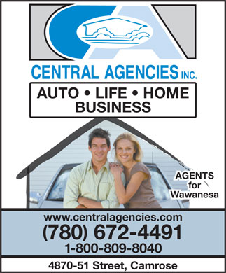 Central Agencies Inc (780-679-6482) - Display Ad