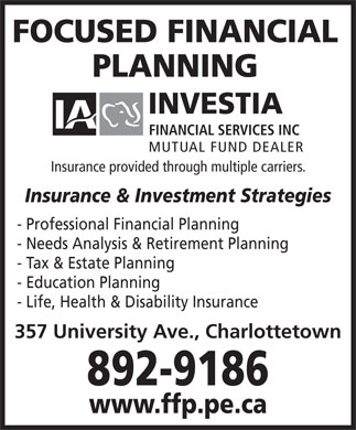 Focused Financial (902-892-9186) - Display Ad