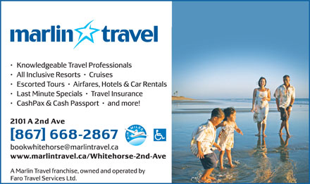 Marlin Travel (867-668-2867) - Display Ad