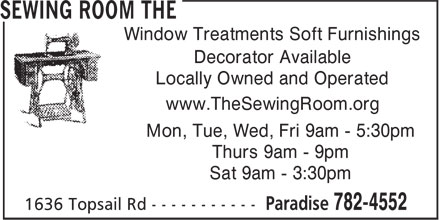 Sewing Room The (709-782-4552) - Display Ad