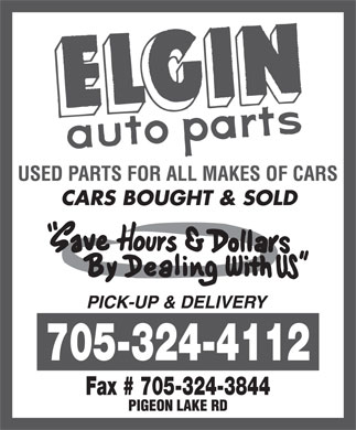 Elgin Auto Parts (705-324-4112) - Display Ad