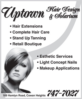 Uptown Hair Design & Solarium (709-747-7027) - Display Ad