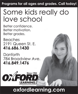 Oxford Learning (416-686-1430) - Display Ad