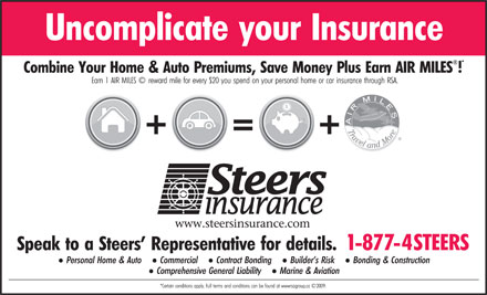 Steers Insurance Limited (1-877-478-3377) - Display Ad