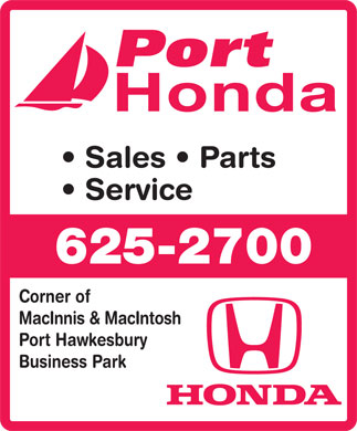 Port Honda (902-625-2700) - Display Ad