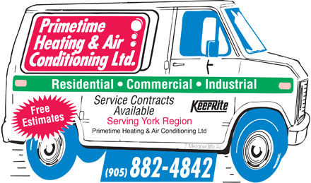 Primetime Heating &amp; Airconditioning Ltd (905-882-4842) - Annonce illustr&eacute;e