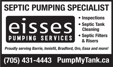 Eisses Pumping Services (705-431-4443) - Display Ad