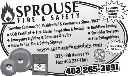 Sprouse Fire & Safety (403-265-3891) - Display Ad