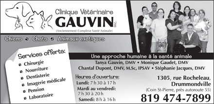 Clinique V&eacute;t&eacute;rinaire Gauvin (819-474-7899) - Annonce illustr&eacute;e - Inc.