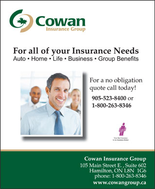 Cowan Insurance Brokers (1-866-585-3604) - Annonce illustrée