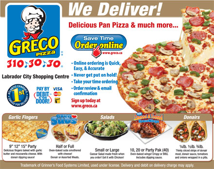 Greco Pizza (902-310-3030) - Display Ad